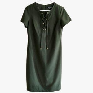 Shelby & Palmer Green dress with tie